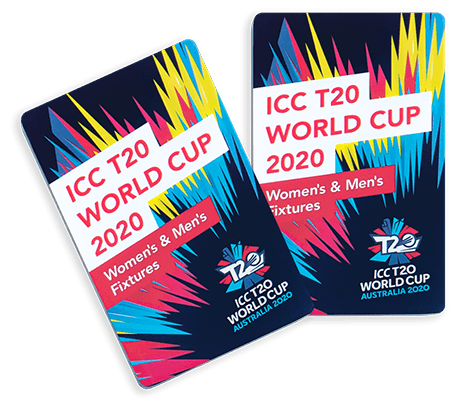 The cover design for the ICC T20 World Cup 2020 z-card