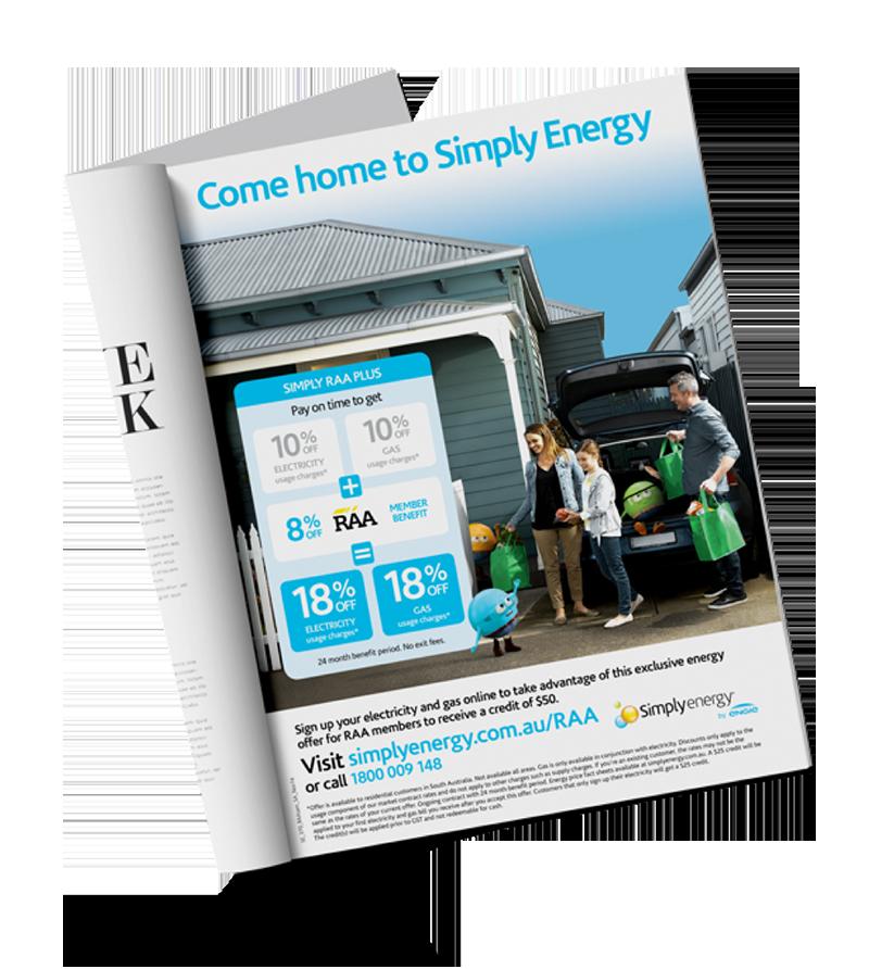 Simply Energy and RACV partnership brochure