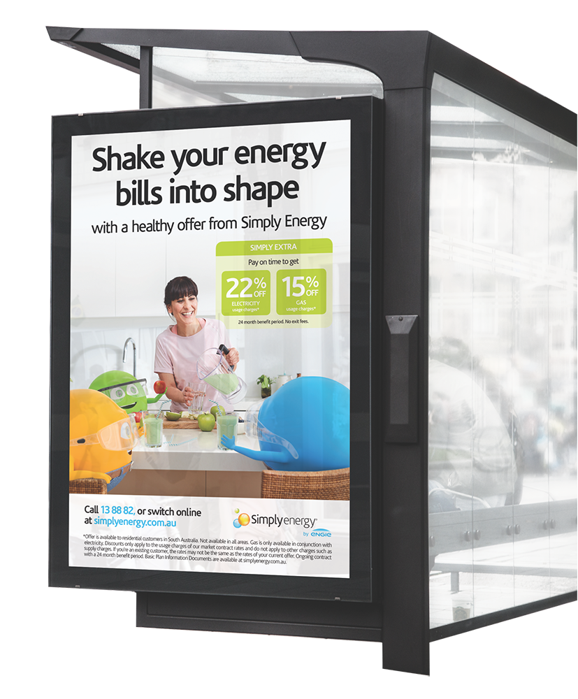 Simply Energy Spring bus shelter advertisment
