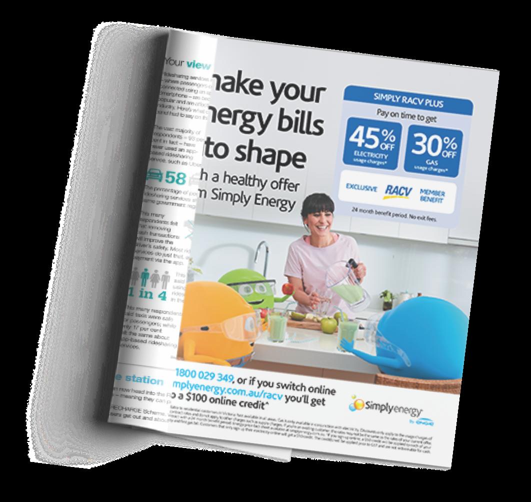 Simply Energy Spring magazine advertisement