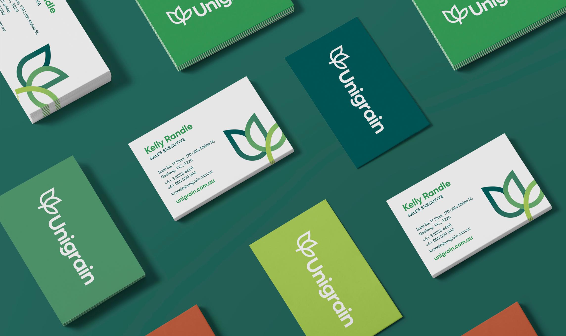Unigrain business cards
